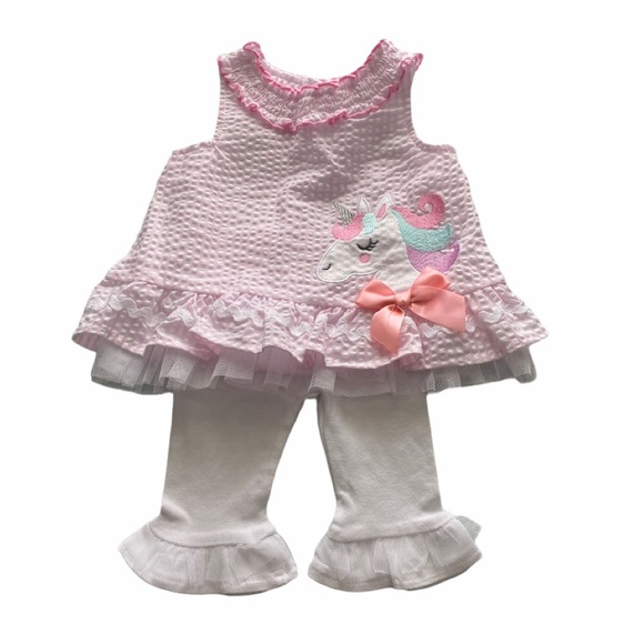 Little Lass Baby Girls 6-9M Two Piece Outfit NWOT